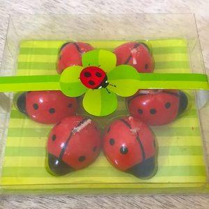 Set of 6 Ladybug Candles